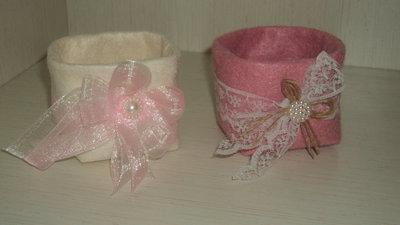 scatoline stoffa porta confetti x tavolo ospiti o confettata personalizzabili
