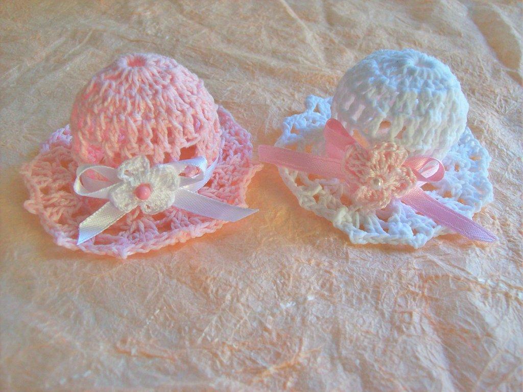 Cappellini segnaposto uncinetto