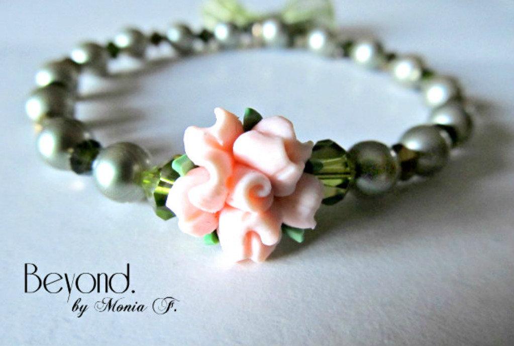 Bracciale Primavera con perle e cristalli Original Swarovski