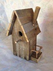 casetta per uccelli in legno - OLMO -
