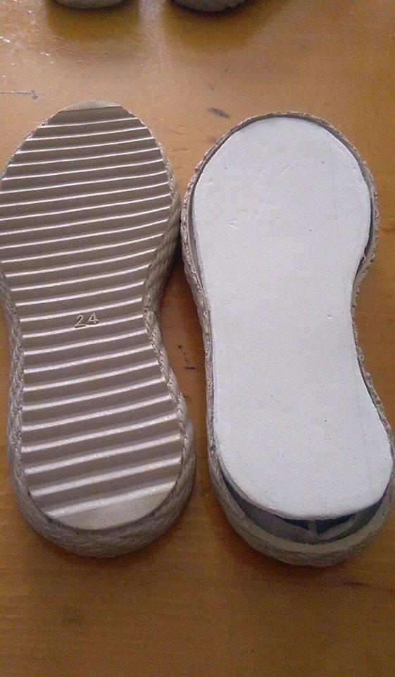 suola per scarpe all uncinetto numero 24