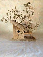 casetta per uccelli in legno - ULIVO -