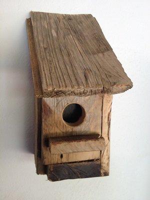 casetta per uccelli in legno -ABETE -