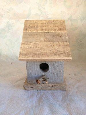 casetta per uccelli in legno -GRIGIA -