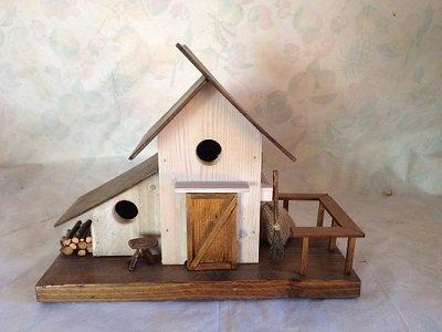casetta per uccelli in legno - ILICE -