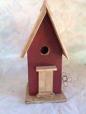 casetta per uccelli in legno - MARGHERITA -