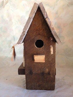 casetta per uccelli in legno -NOCE -