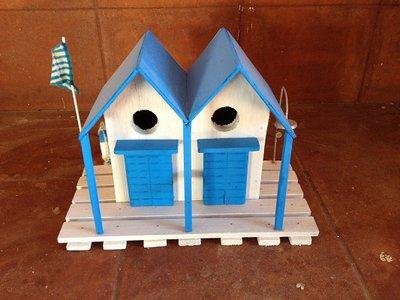 casetta per uccelli in legno - RICCIONE -