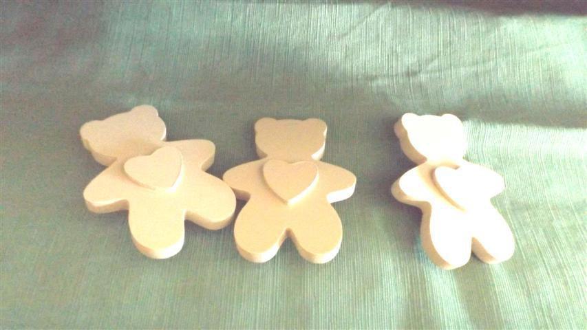 INSERZIONE RISERVATA PER SIMONA - 3 orsetti cuore - legno - no fimo