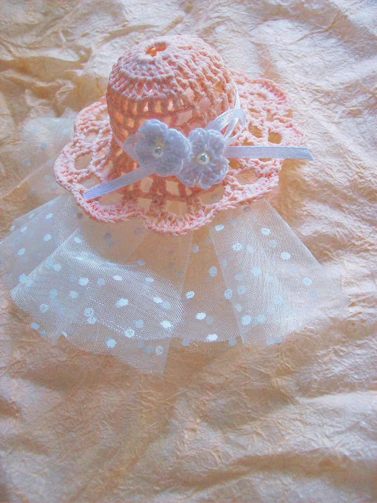 Cappellino bomboniera confettata comunione cresima segnaposto