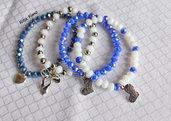 Bracciali cristalli di luce - blu
