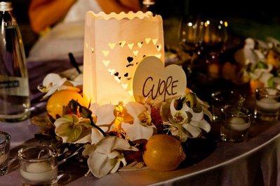 Centrotavola lanterna per matrimonio Shabby-Ecochic