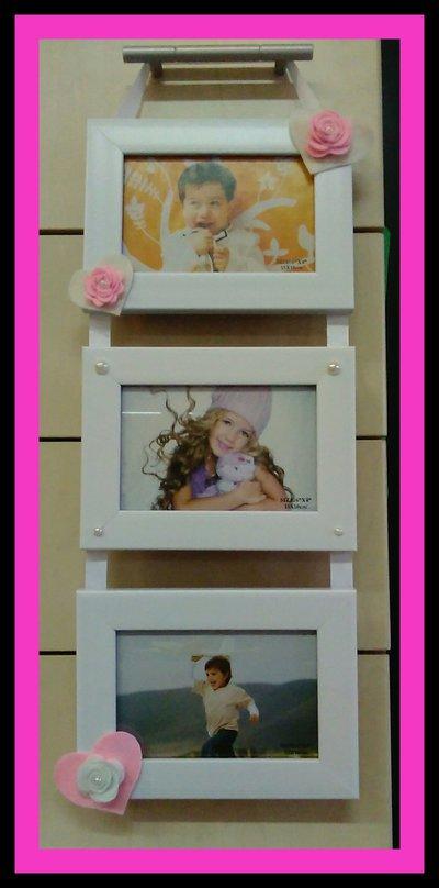 Portafoto decorati in pannolenci