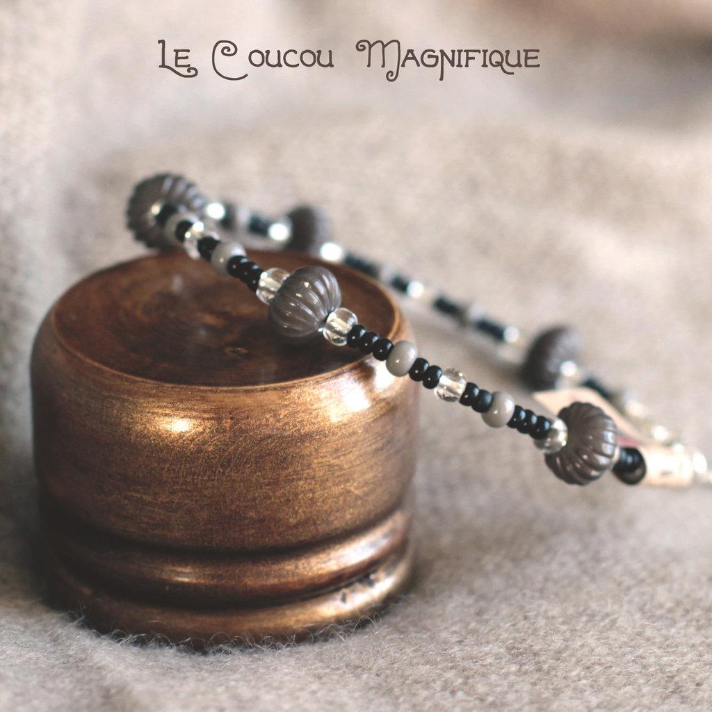 Bracciale semirigido con perle in vetro e vintage - B.5.2016