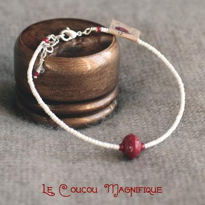 Sottilissimo bracciale semirigido con perline veneziane - B.12.2016