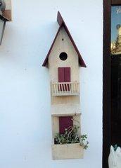 casetta per uccelli in legno - AMARILLIDE -