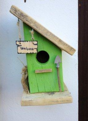 casetta per uccelli in legno - BETULLA -