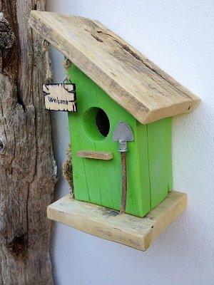 Casetta per uccelli in legno betulla per la casa e - Oggetti in legno per la casa ...