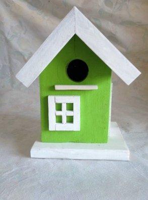 casetta per uccelli in legno - PISTACCHIO -