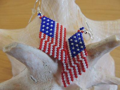 Orecchini bandiera - America