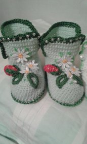 neonato  scarpette di lana