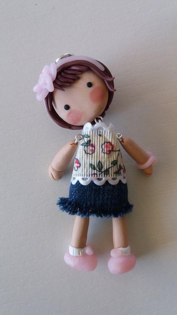 Collana bambolina fimo
