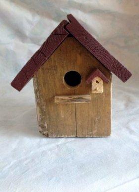 casetta per uccelli in legno - CANNELLA -