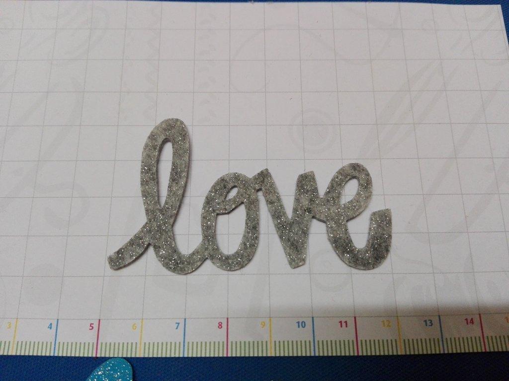 Scritta LOVE glitter