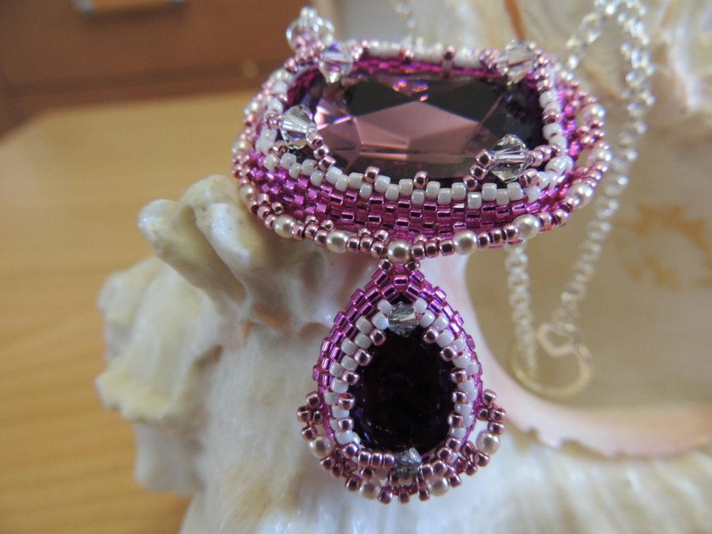 Collana rosa Elisabeth
