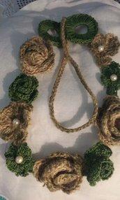 Collana spago crochet