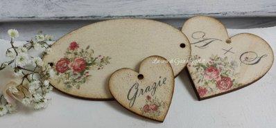 Piccolo cuore in legno personalizzabile per bomboniere o for Gaia case in legno