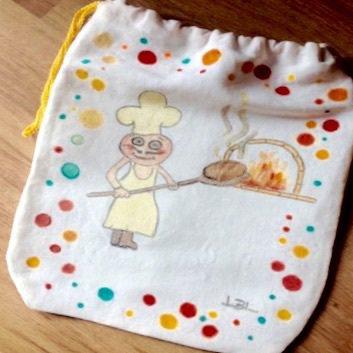Porta  pane artigianale dipinto a mano.  Idee regalo