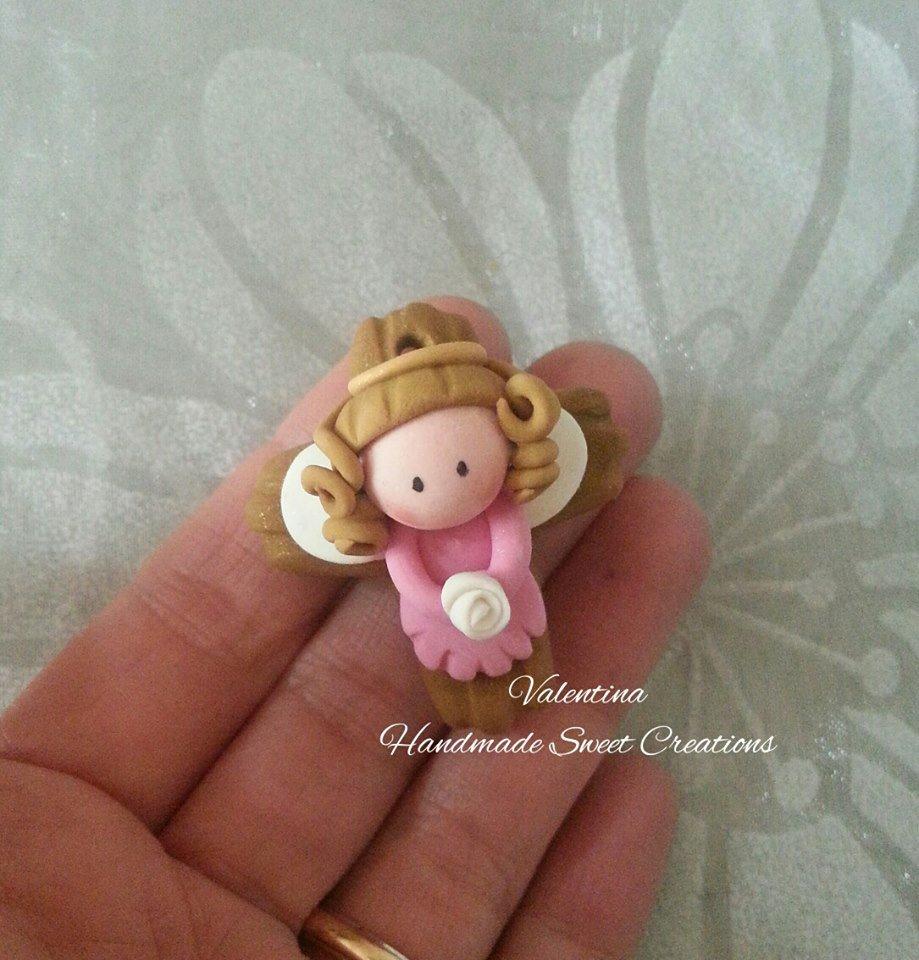 Bomboniera croce- crocifisso- angelo bimba Comunione