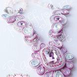 """Collana """"Pink Plumes"""" (anche da sposa – abbinabile con orecchini)"""
