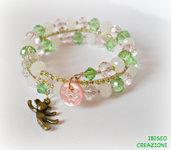 Bracciale a filo armonico e perle semi cristallo - Baby Girl