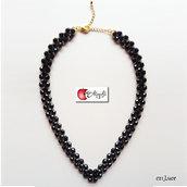 Collana a V fatta a mano: perle e perline Miyuki - c21_LUCE bk