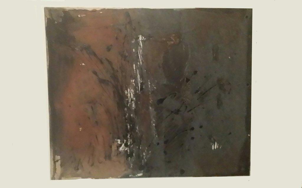 Quadro astratto/materico terra bruciata