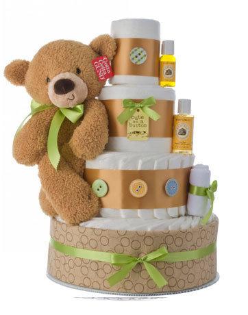 Torte di Pannolini con Peluche - Idee regalo per neonati