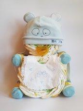 L' orsetto Teddy creazione di pannolini, regalo baby shower, nascita
