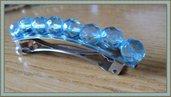 Ferma capelli di perle sfaccettate turchese luminose
