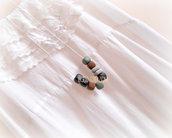 Collana con perle in pasta polimerica - Mod. Fango&Rocce