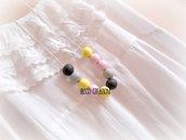 Collana con perle in pasta polimerica - Mod. Rock&Pastel