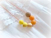 Collana con perle in pasta polimerica - Mod. Perle di Sole