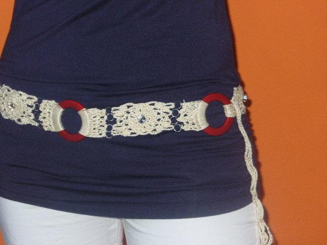 cintura uncinetto