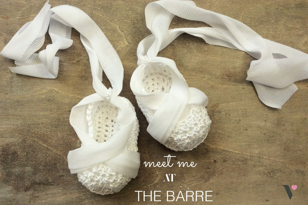 Meet you at the barre. Scarpine Ballerina Bianche all'uncinetto