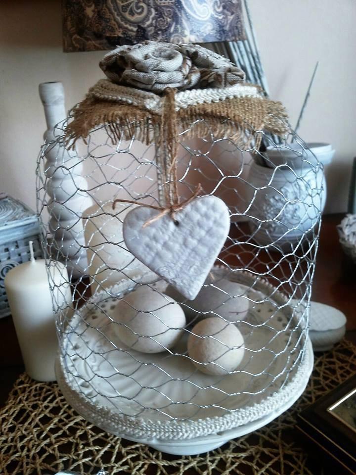 Cupola shabby in rete di metallo per la casa e per te decorare su misshobby - Oggetti di metallo in casa ...
