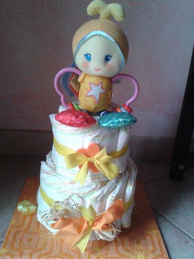 torta di pannolini unisex