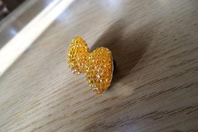 Spilla per bambina fiocco arancione brillante