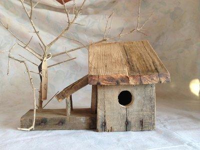 casetta per uccelli in legno - MANDORLA-