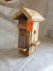 casetta per uccelli in legno - IBISCO-